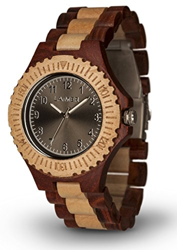 Laimer Holzuhr 0014 - Damen Armbanduhr