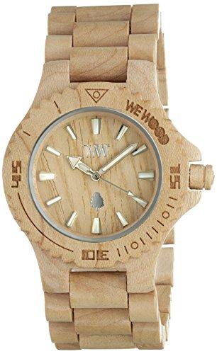Wewood Herren-Armbanduhr mit Datumsanzeige, Beige