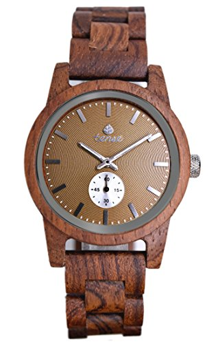 TENSE 'Hampton Katalox' Herren Holzuhr Katalox Ø 40 mm Armbanduhr aus Holz analog Quarz B4700R-BR